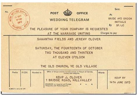 wedding telegram template details about 10 x personalised vintage telegram wedding