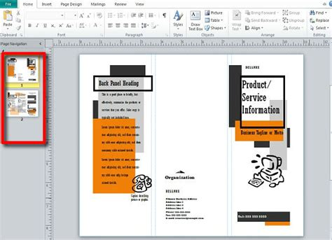 Making And Publishing Brochures With Publisher Microsoft Publisher Brochure Templates