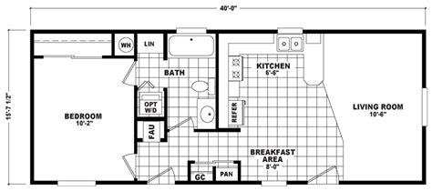 Live Oak Mobile Home Floor Plans Fairway 16 X 40 625 Sqft Mobile Home Factory Select Homes