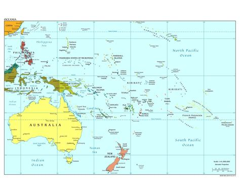 political map of australia with capitals maps of oceania and oceanian countries political maps