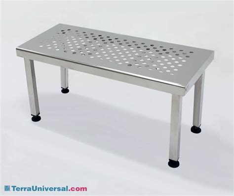 cleanroom bench gowning bench ultraclean ss free standing perforated