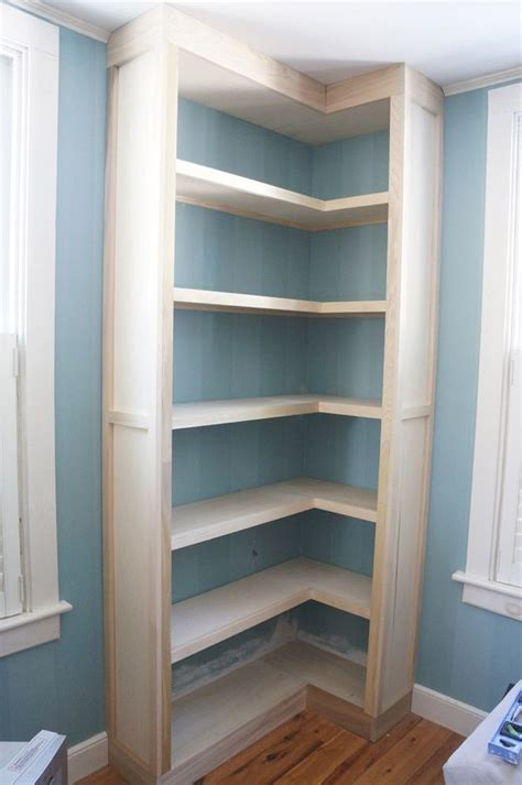 beautiful corner built  bookcase    today