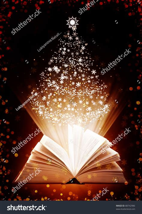 christmas fairy tale vertical background  magic book stock photo  shutterstock