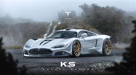 This Tesla R45 Supercar Render Is Beyond Ludicrous Carscoops