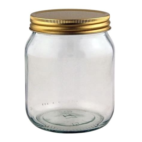 1lb honey jar supplied with 70r3 gold metal lids