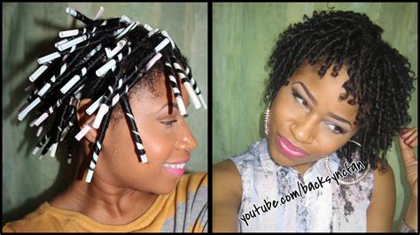 what to use to make african america hairly curly simple diy steps on how to make straw curls 360nobs com