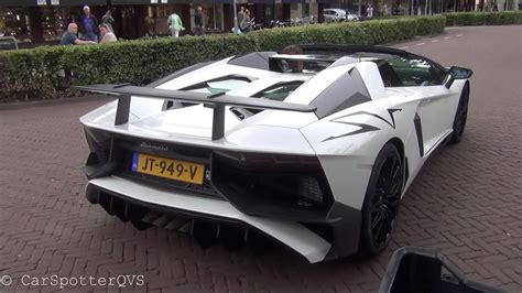 lamborghini aventador lp750 4 sv roadster start up and revs youtube