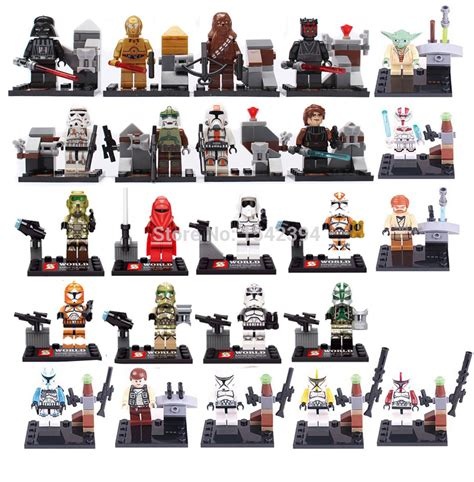 Perlengkapan Jahit Set Mini 24 Pcs person wars minifigures 24pcs lot the pressure awakens clone trooper yoda building blocks