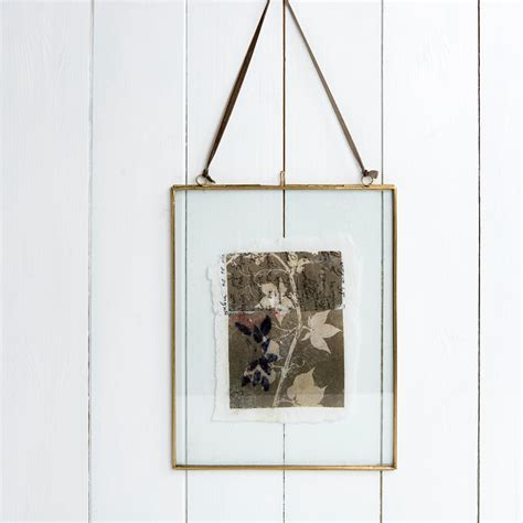 frame hanging dotcomgiftshop hanging brass picture photo frame 25cm x