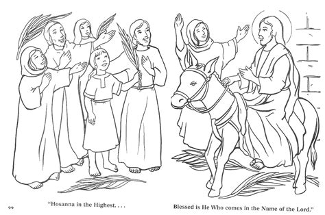 coloring page jesus rides into jerusalem garden of 187 dedicated to our blessed 187 palm