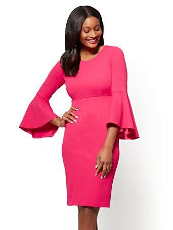 Donela Dress No 180 ny c bell sleeve sheath dress
