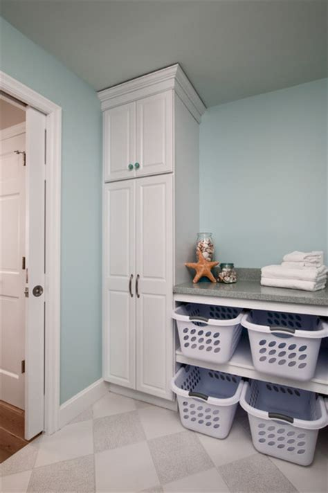 Laundry Folding Table With Storage Plenty Of Storage Transitional Laundry Room Philadelphia By Custom Craft Design Build