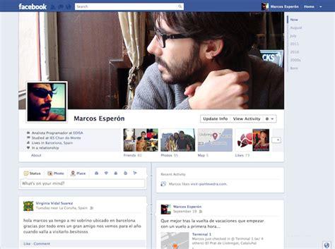imagenes para perfil de facebook nuevo facebook presenta timeline la nueva vista de los perfiles