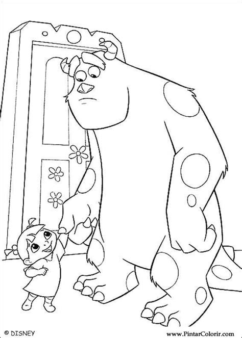 Drawings To Paint Colour Monsters Inc Print Design 003 Inc Dibujos A Color