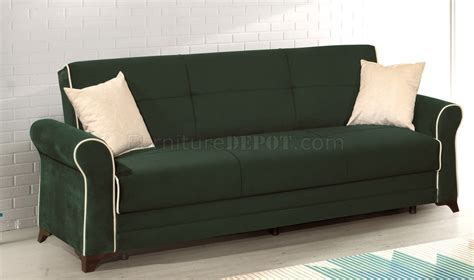 green microfiber sofa irem sofa bed in green microfiber by rain w optional items