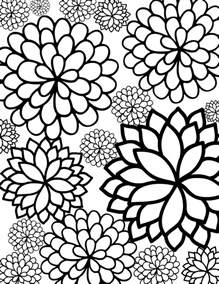 free printable flower coloring pages for adults flower coloring pages for adults
