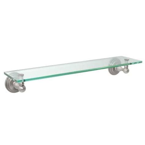 home depot glass shelves gatco marina 22 75 in w vanity glass shelf in satin nickel 5850 the home depot