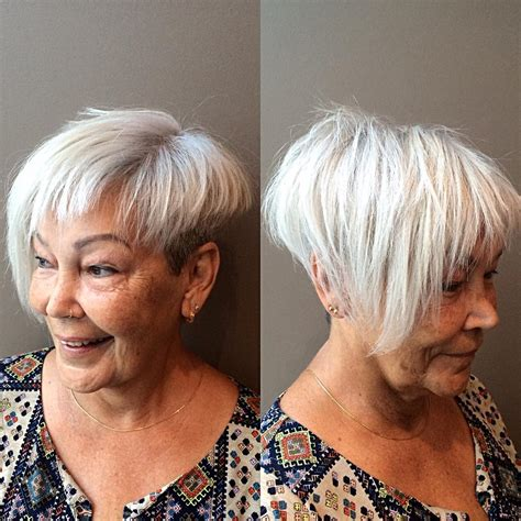 asymmetric hairstyle for over 60 60 gorgeous hairstyles for gray hair