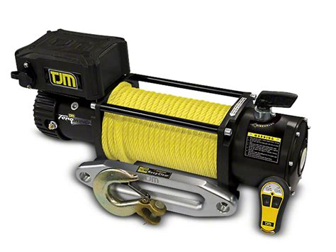 tjm ram 9 500 lb torq winch w synthetic rope