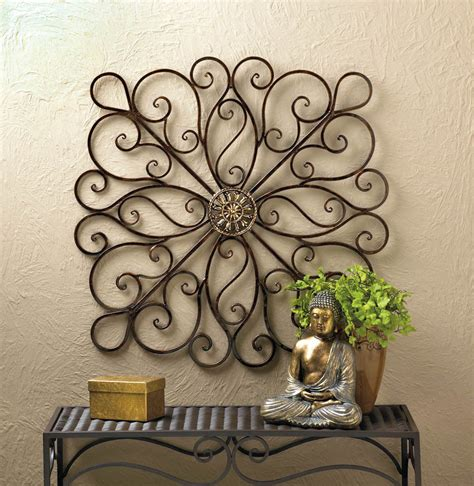 rod iron decorations wall wrought iron scrollwork wall decor 36 new 10016153