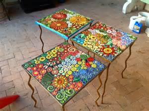 mosaik vorlagen tisch carrie s garden of delights santa theresa tile works