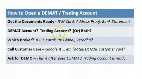 How To Open D Mat Account by How To Open A Demat Trading Account Bse2nse