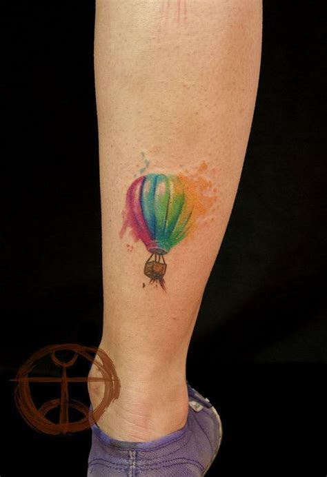 tattoo care hot water air balloon hot air balloon and watercolour tattoos on