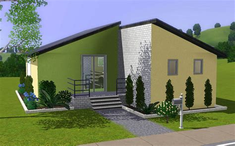 mod the sims colourful split level starter home