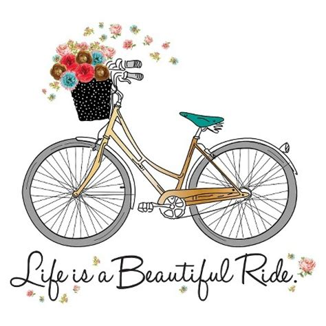 Wall Sticker Bicycle large decal bike with 3d flowers target
