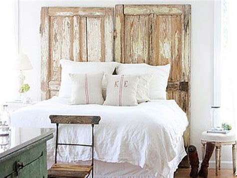 diy old door headboard 100 inexpensive and insanely smart diy headboard ideas for