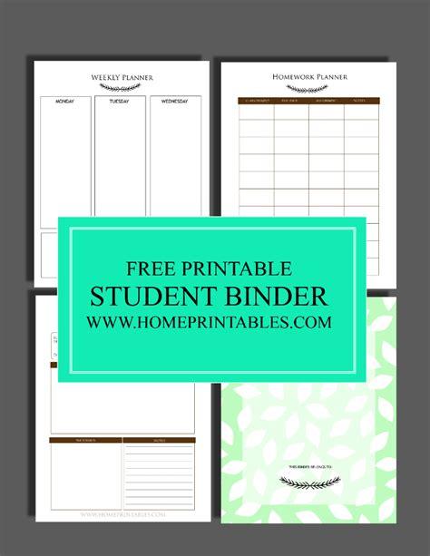printable student planner 2016 free free to print student binder home printables
