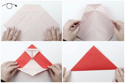 Origami Santa Clause - how to make a origami santa