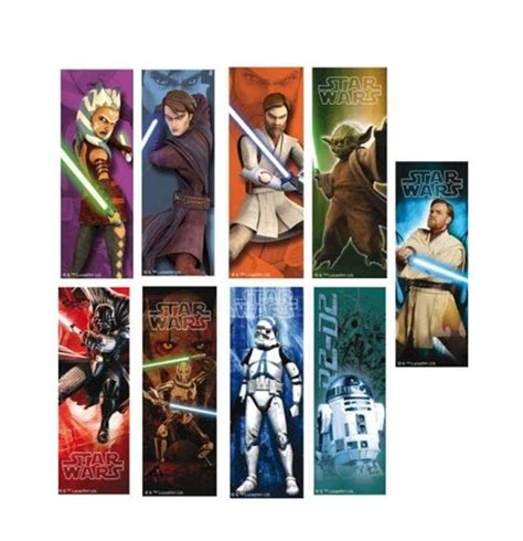 printable bookmarks star wars star wars 3d bookmark characters assortment 18 for only