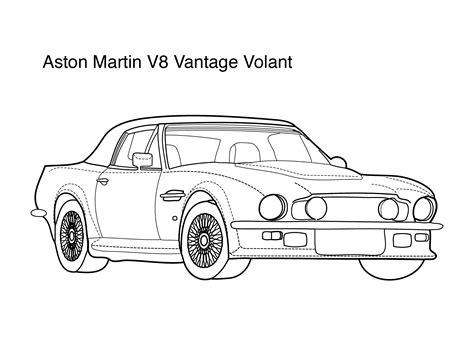 Aston Martin V8 Vantage Coloring Page Coloring Pages Aston Martin Coloring Pages
