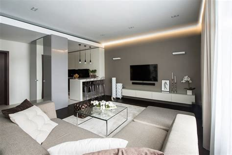 modern apartment ideas decorations beautiful ceiling led hidden lighting for