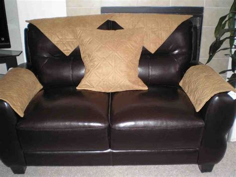 leather sofa arm covers home furniture design - Leather Sofa Arm Covers