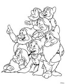 snow white coloring page 7 snow white and the seven dwarfs coloring