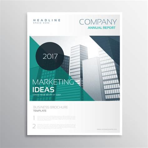 modern business annual report flyer brochure leaflet