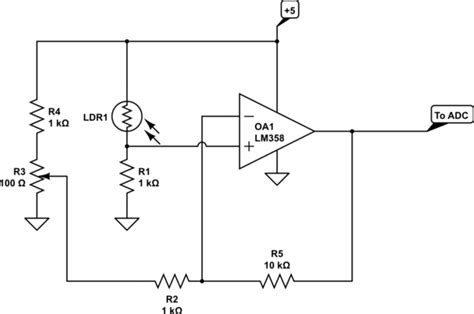 photoresistor gain arduino best way to lify the photoresistor signal electrical engineering stack exchange