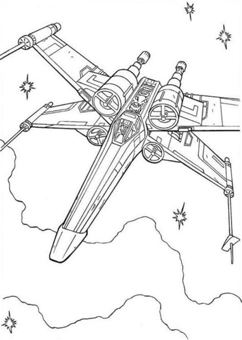 x wing starfighter coloring page star wars coloring pages x wing fighter star wars