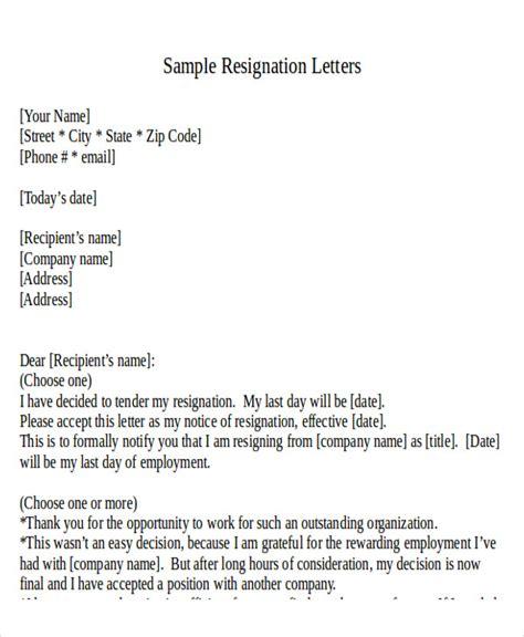 Formal Resignation Letter Email Sle 30 resignation letter formats templates pdf doc