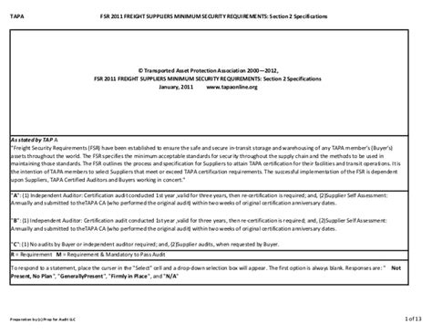 security section fsr 2011 freight supplier security section 2 requirements