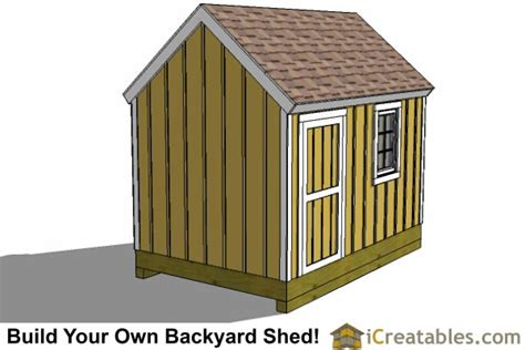 Garden Shed Plans 8x12 by 8x12 Cape Cod Shed Plans Storage Shed Plans