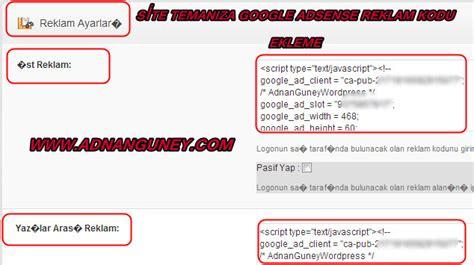 adsense quickstart adsense reklamı wordpress siteye nasıl eklenir adnan g 252 ney