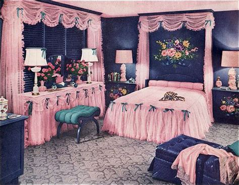 retro bedroom american vintage bedroom 1950 omg can i this room with cotton pink and blue or