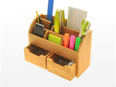 Eco Home Designs by Desk Stationery Box Wall Mounted Organiser Bamboo
