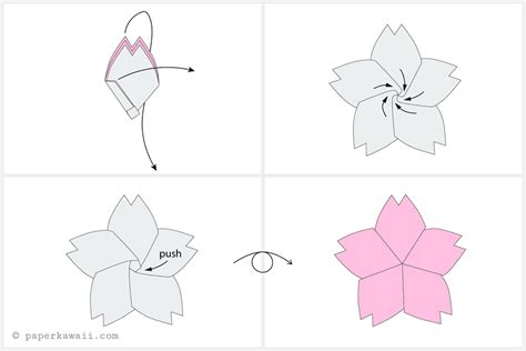 tutorial origami cherry blossom origami cherry blossom tutorial