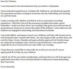 babysitting cover letter 6 essentials that should be included in a