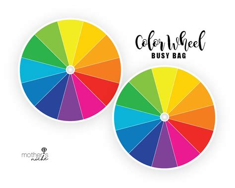 color with a color wheel busy bag plus free printable