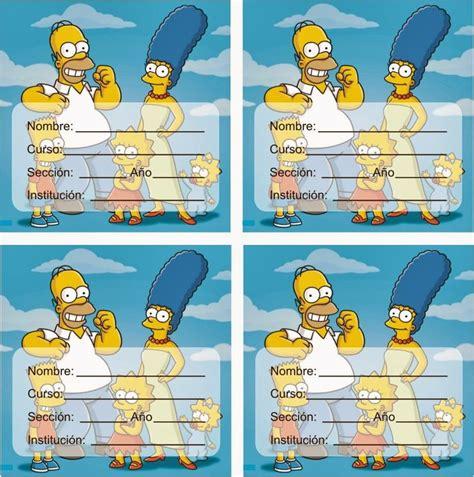 imagenes de minions normales etiquetas para cuadernos los simpson familia disfuncional